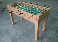 2015 hot sale wooden cheap foosball table size 48 barcelona and real madrid soccer table