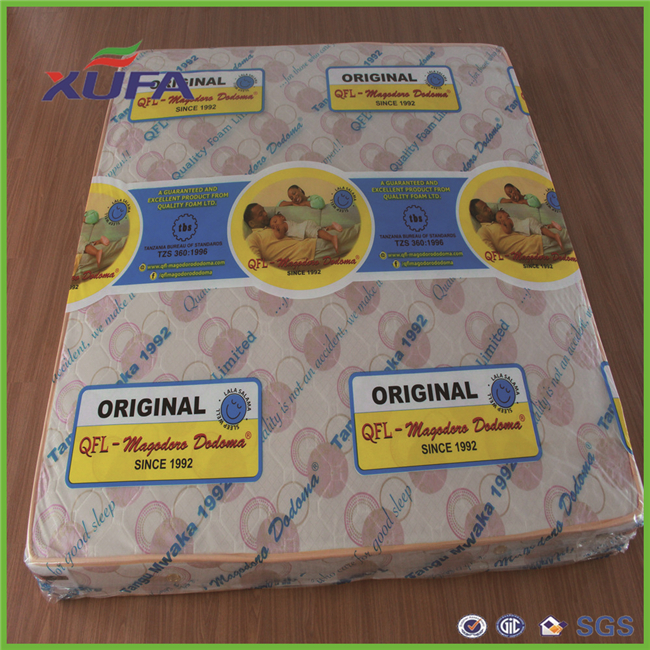 Guangzhou supplier High quality nice printing PVC scrap plastic film roll for mattresses