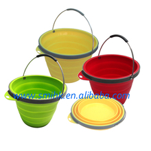 Collapsible Portable Silicone Bucket for Houseware and outdoors