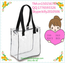 Fashionable transparent pvc tote bag Travel transparent Accessories Bag, clear Tote bag for Personal Care / Beauty Products