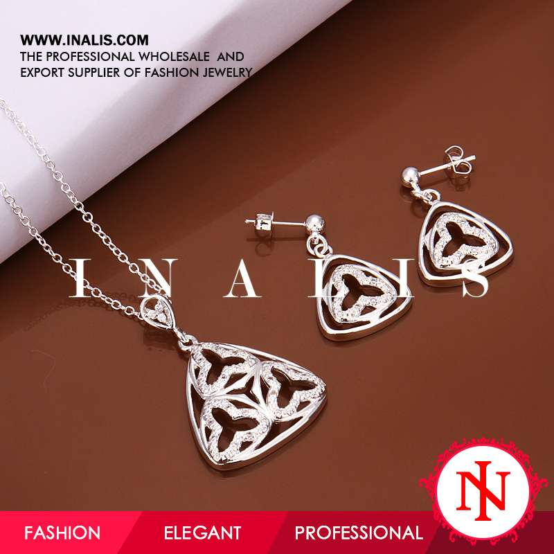 Wholesale nickel and lead free fashion jewellery plated silver S468