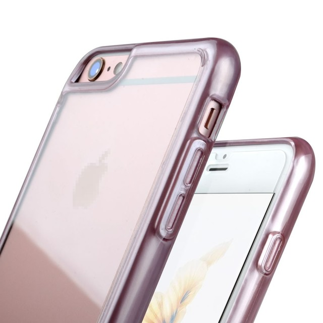 C&T Clear Crystal Hard Back Cover Plastic TPU Bumper Electroplate Cases for Apple iPhone 6 Plus 5.5 Inch