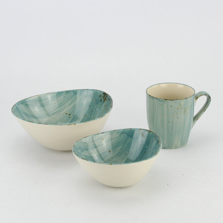 Classic turquoise antique china tea and coffee set