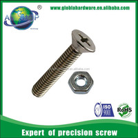 Stainless Steel All Threaded machine teeth screws (with ISO card)