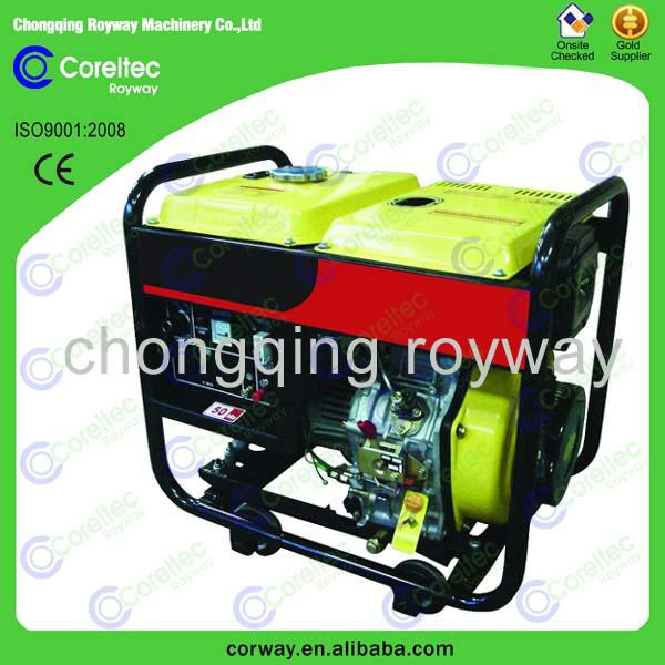 Used 2.0 kw to 12.0 kw Single phase recoil/electric start Open Type 3kw diesel generator for sale