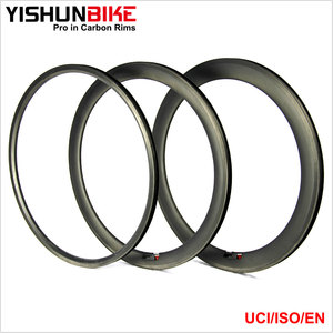 OEM Accept! 2017 YISHUN BIKE Light Weight 700C 60mm Carbon Clincher Rim 24mm Width High TG 240 Resin Aero Road Taiwan Rim HTG6C