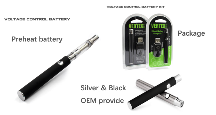 Wholesale Price 510 Thread Oil Vape Pen Battery With Charger USB