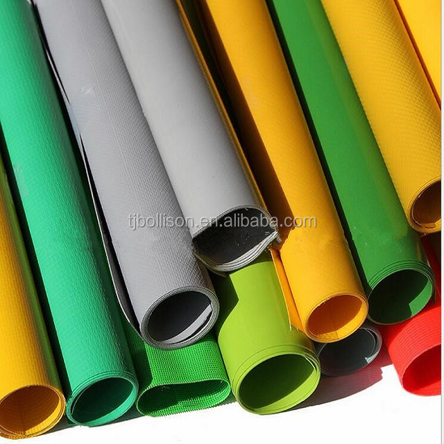1000D 650gsm 100% PVC Vinyl Polyester Fabric Rolls Tarpaulin Factory With Best Price