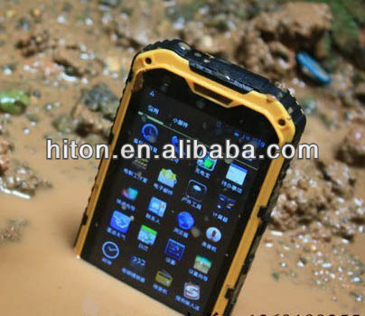 Cheapest 4 inch 3G IP67 waterproof smartphone with MT6572 and Android 4.2