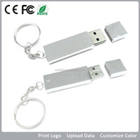New personalized rectangle usb pendrive 2gb, metal USB 2.0 metal stick