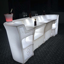 PE material Illuminated Remote Control Led Bar Table for party
