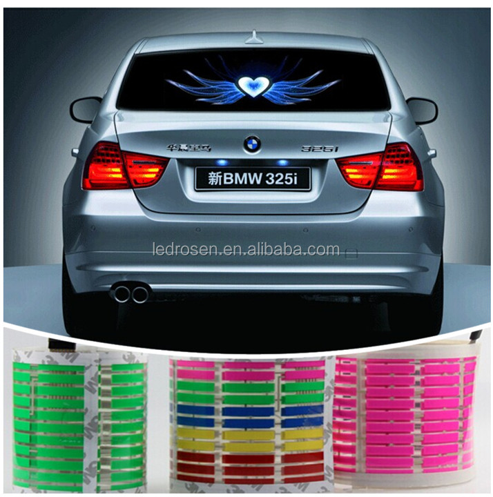 2014 multicolor high quality soft light car music light led sound activated equalize for all cars