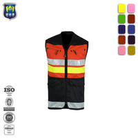 3M Reflective Hi Vis Safari Vest Waistcoat for Ambulance Firefighter
