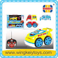 four channel rc cartoon kids toy with music light rc police car