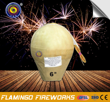 "New arrival 6"" Display Shell 1.3g un0335 fireworks"