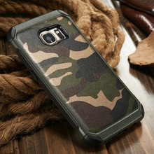 2016 2 in 1 Camouflage Leather Case for S7, for Samsung S7 Cell Phone Case S7 edge Cover