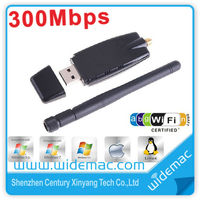 Realtek 8191 300M 802.11b/g/n Wireless LAN WiFi Adapter USB WiFi Network Lan Card with 2dbi Antenna support HD/TV (SL-1504N)