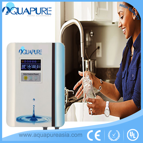 Domestic wall mounted design O3 Ozone Faucet Tap Water Purifier 500mg ozone output