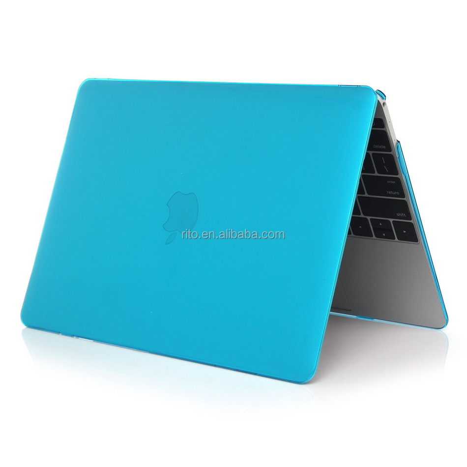 For Macbook Air Case 13 Inch, Crystal Plastic Hard Case for Macbook Laptop(Light Blue)