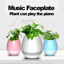 cheap price Variable color led lights plastic music flower pots with bluetooth