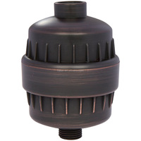10 StageUniversal High Output Shower Filter With Oil Brushed Bronze Finish and chrome, Free Teflon Tape Included