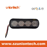 Uniontech newest car led dash visor warning light with 19 flash patterns