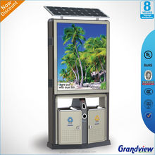 solar light display stand with advertising light box road signs trash can light box
