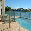 10.76mm pvb interlayer frameless laminated tempered glass pool fence