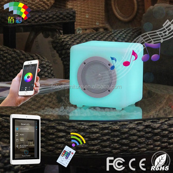 phone blue tooth control bluetooth speaker led light