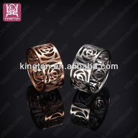 rose flower shaped jewelry set hollow rings