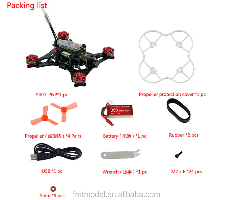 F19931 KINGKONG 90GT PNP Brushless FPV RC Racing Drone Mini Quadcopter No Receiver