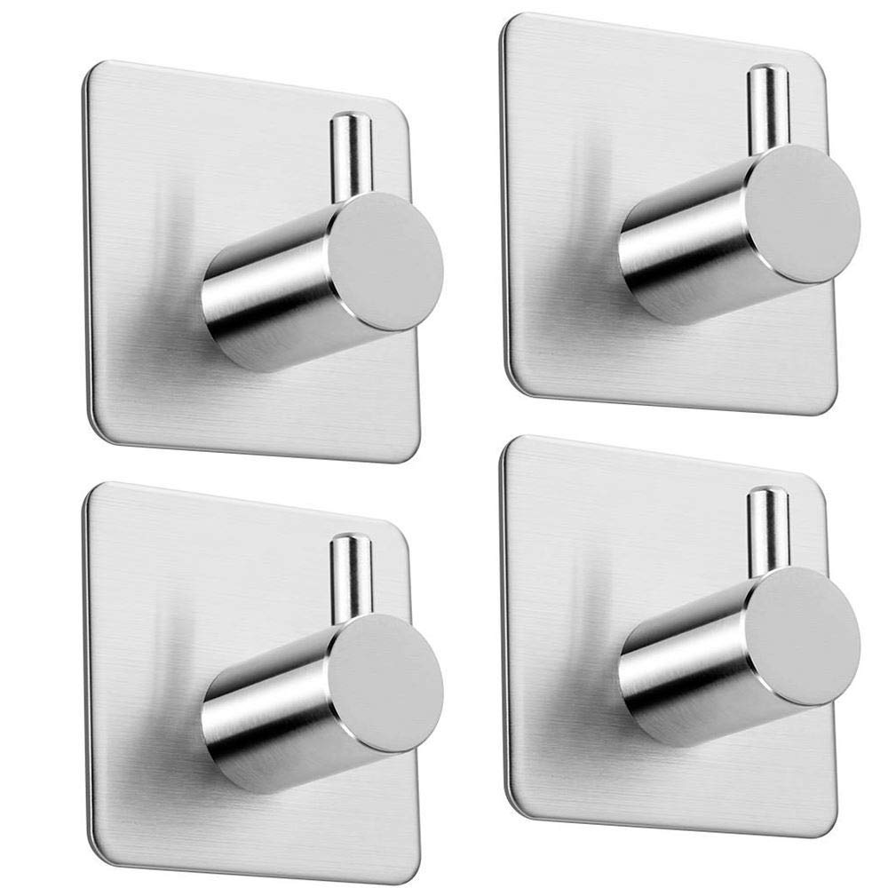 Wholesale stock trad quality adhesive metal aluminum hooks for clothes