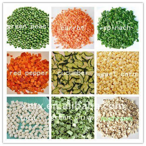 Freeze dried veggies
