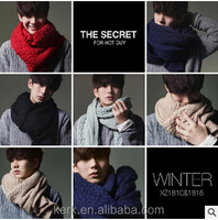 Autumn and Winter New Korean Design men's thick warm wool scarves knitted scarf