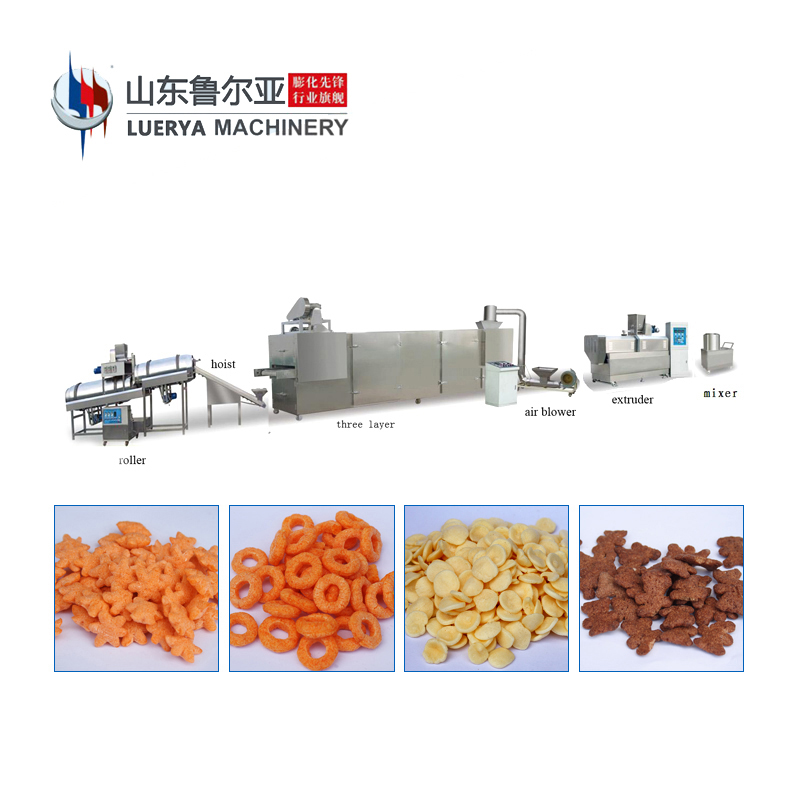 Factory Wholesale breakfast cereals processing extruder equipment making machine