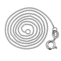 Factory Vogue Jewellery Chain Solid 925 Sterling Silver Box Chain