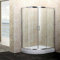 aluminum frame offset sliding door shower cubicles bathroom