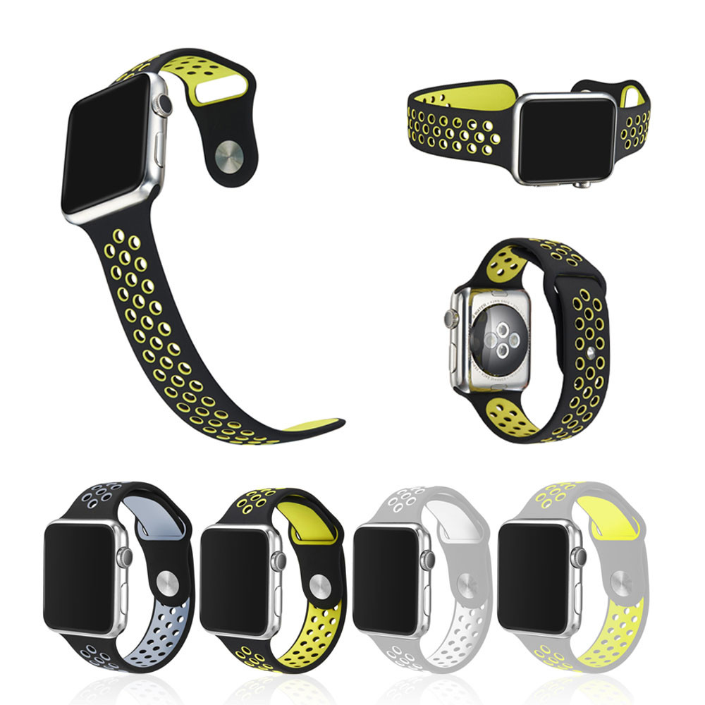 2016 Christmas gift Silicone watch strap for Nike sports band,for apple watch band