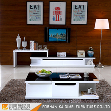 Modern furniture design outdoor high gloss glass top led tv stand