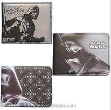 Men PU Wallet Rebel Alliance Darth Vader Galactic Empire Black Night Yoda BB8 Robot Logo Moive Jewelry Card Holder Wallet