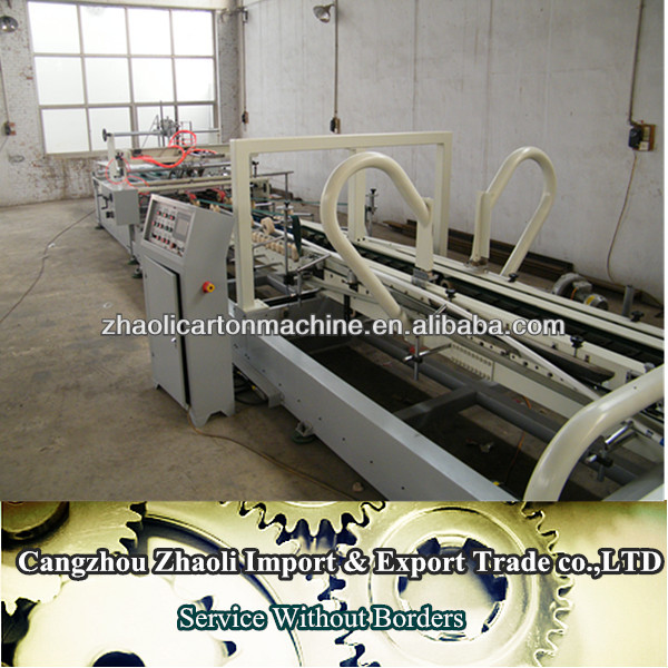 automatic corrugated carton flap pasting machine gluing machine