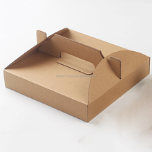 Disposable Portable Borwn Kraft Paper Pizza Box Paperboard Take Out Packing Boxes