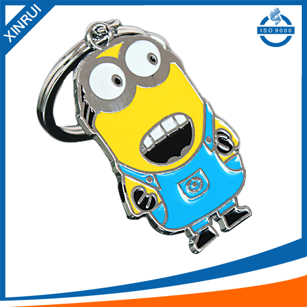 3D cartoon design zinc alloy keychains with cheap price