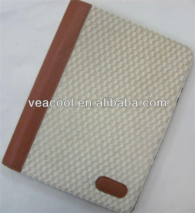 Beige Leather Smart Flip Case Cover Stand for Apple iPad 2 3 4