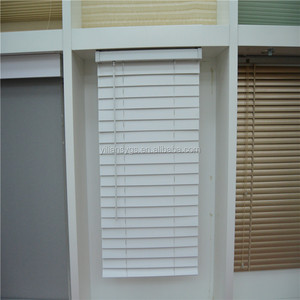 "50mm 2"" Basswood Venetian Window Blinds Wooden Blinds For Home Decor"