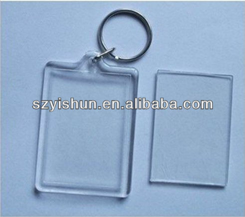 Customized acryilc keychain acrylic keychain photo frame(blank keyring)