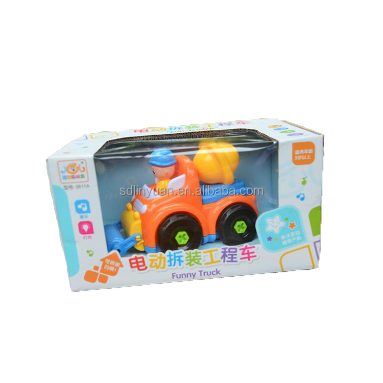 B/o Yellow Truck Plastic Toy With Light And Music For Kids