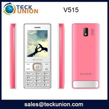 V515 2.4inch dual cameras flash 3g feature cell phone with heavy battery