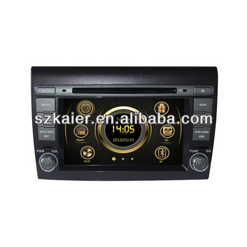 auto radio gps car dvd for Fiat Bravo with GPS/3G/Bluetooth/TV/IPOD/RDS