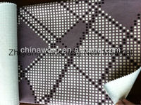 Paper printed short pile micro velboa and bonded with T/C for Sofa fabric